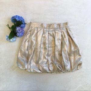 Twelve by Twelve golden bubble skirt EUC.